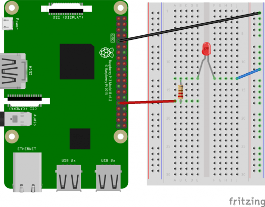 Android Things - Raspberry Pi 3 and Blinking LED