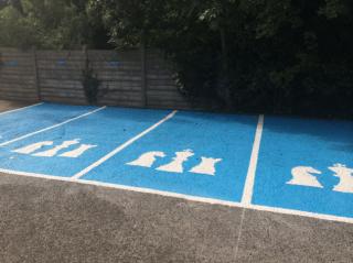 Cockburn Lucas, Nottingham, Parking Bays, Custom Parking Bays, Car Park Lining, Car Park Design, Car Park Marking, Car Park, Financial Consultant, Finance, Parking Lot, Blue, Colour