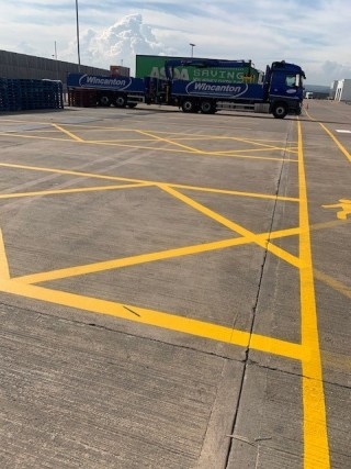 Distribution Centre Line Markings
