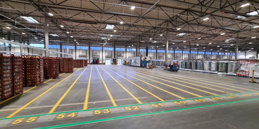 Delivering Internal Warehouse Line Markings for Atherstone Distribution Centre