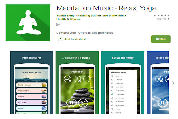 Meditation Music - relax, yoga - FREE Meditation App to relieve stress and anxiety - RightApp4u