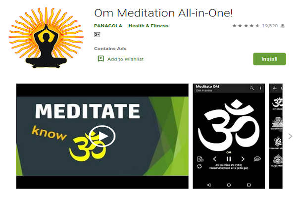 Om Meditation All-in-one - FREE Meditation App to relieve stress and anxiety - RightApp4u