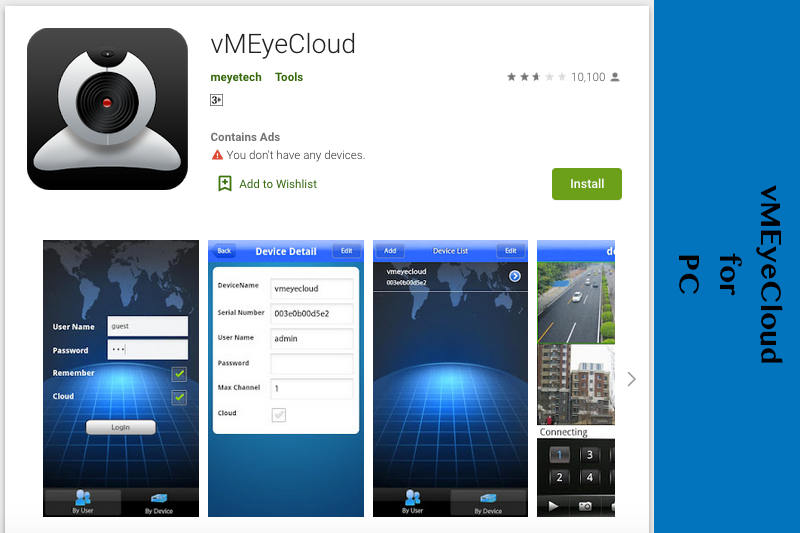 vMEyeCloud for PC - Download FREE IP Web Cams Management App for PC - Rightapp4u