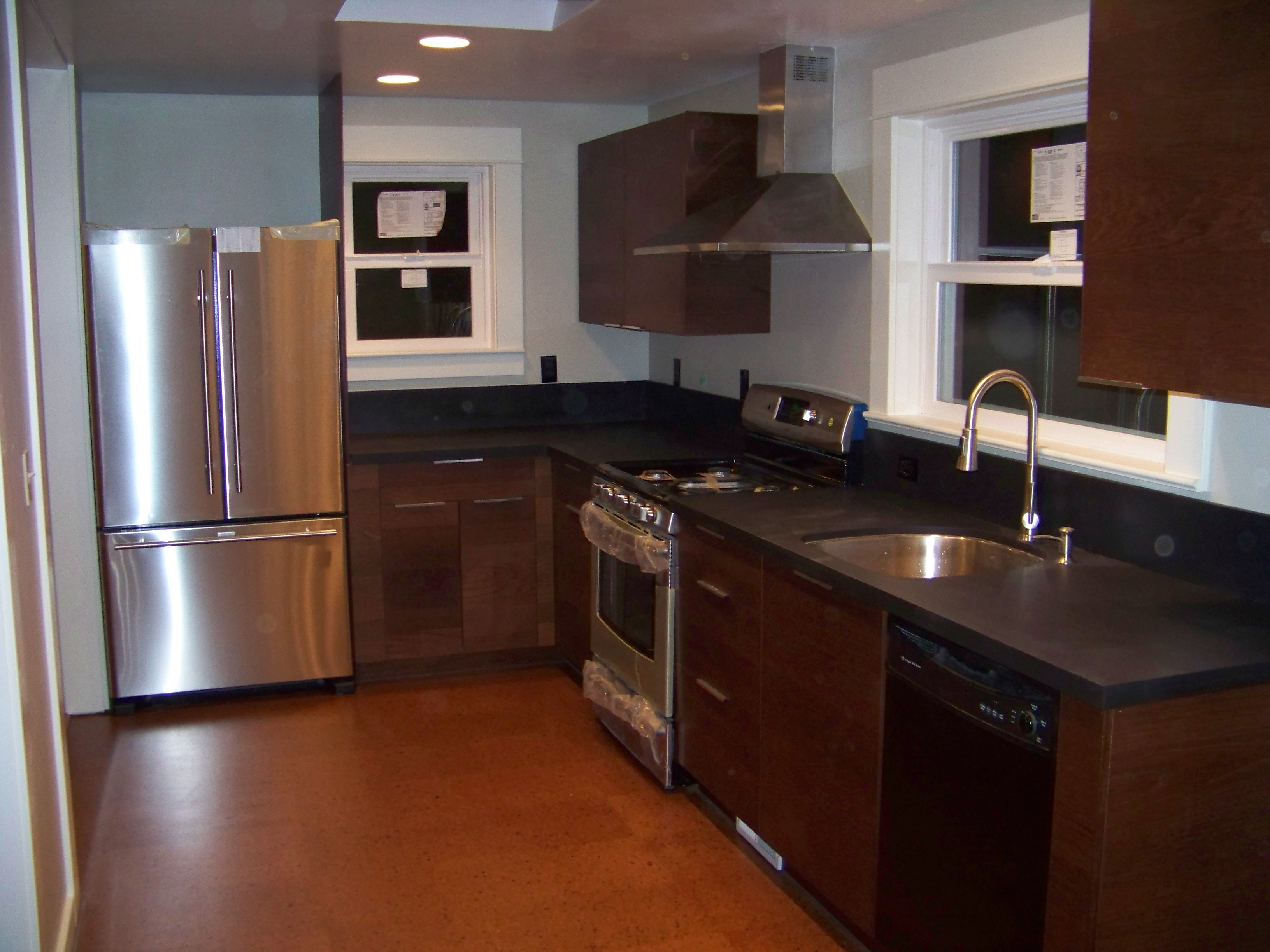 cork floor kitchen do it yourself cabinets flooring right arm construction home remodeling blog