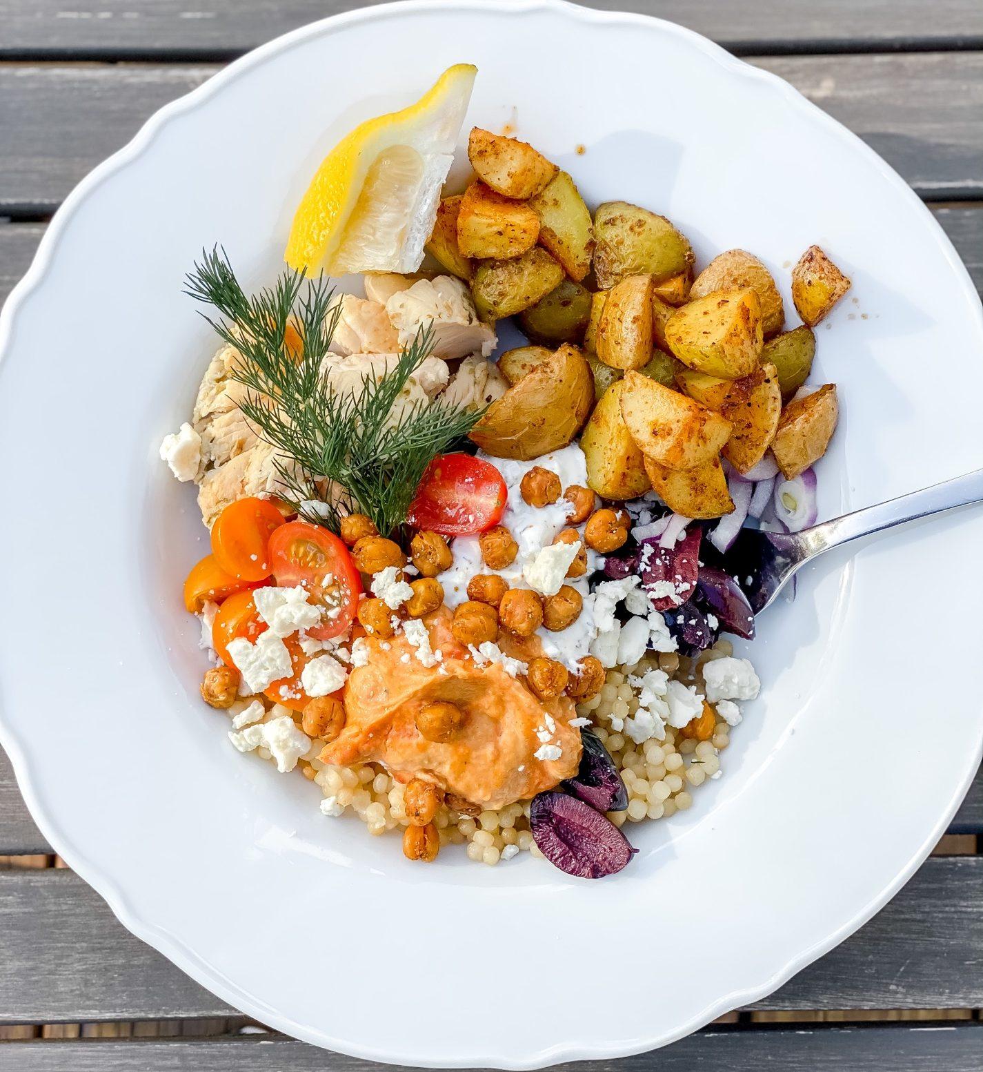 The Best Mediterranean Chicken Couscous Bowl