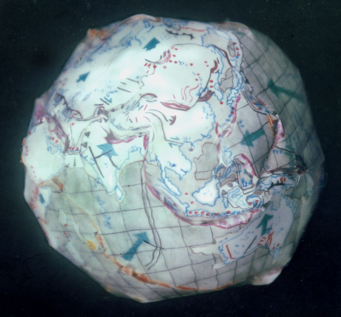 Paper Globe Tectonically Responsive to Touch