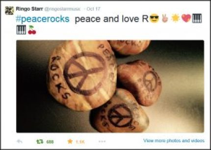 Peace Rocks for Ringo Starr
