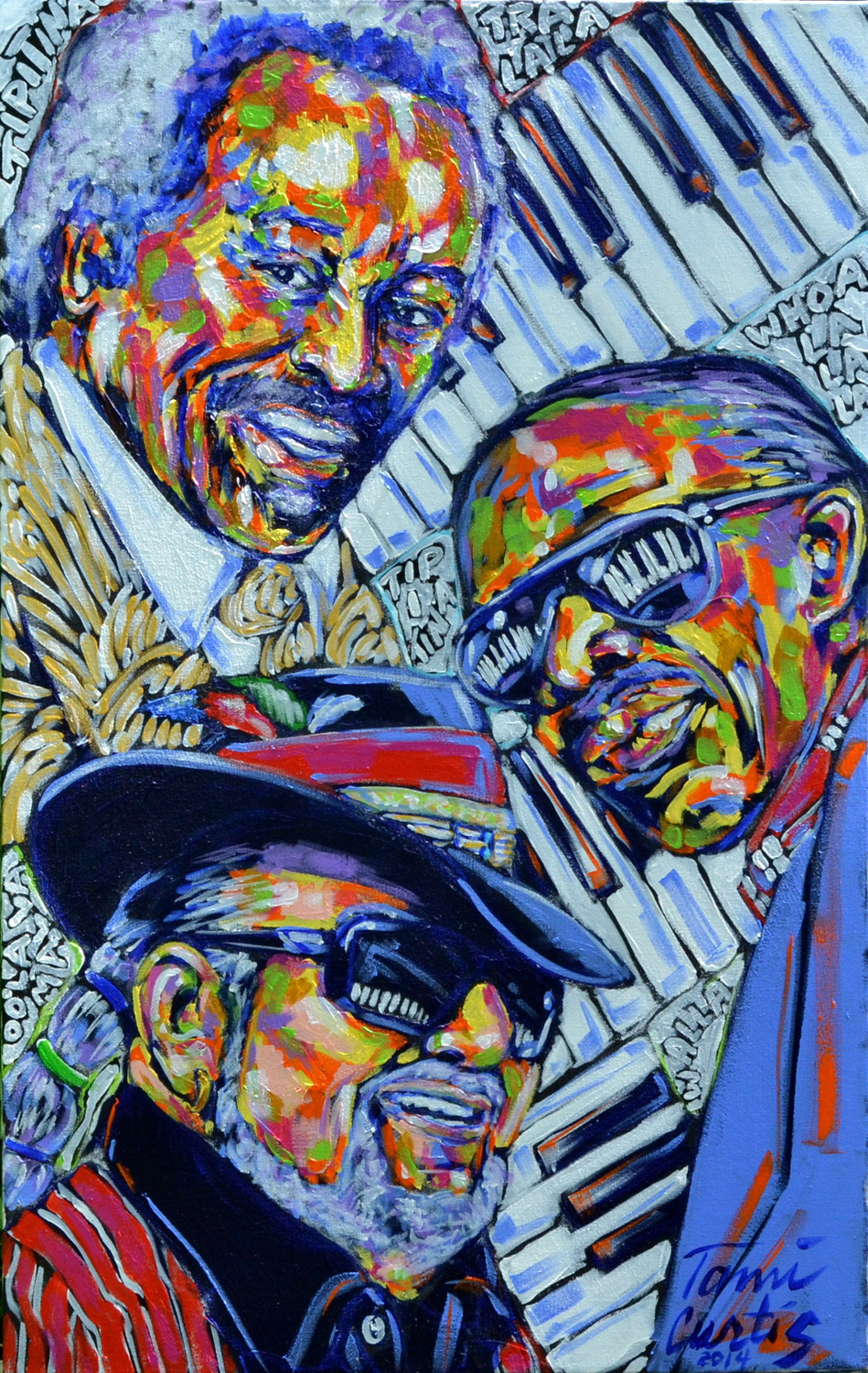Three Piano Men – Tami Curtis, artist