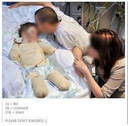 Sick child scam