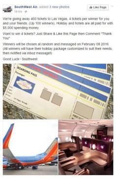 Southwest Air scam