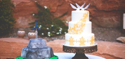 Zelda Wedding and Grooms Cakes!!