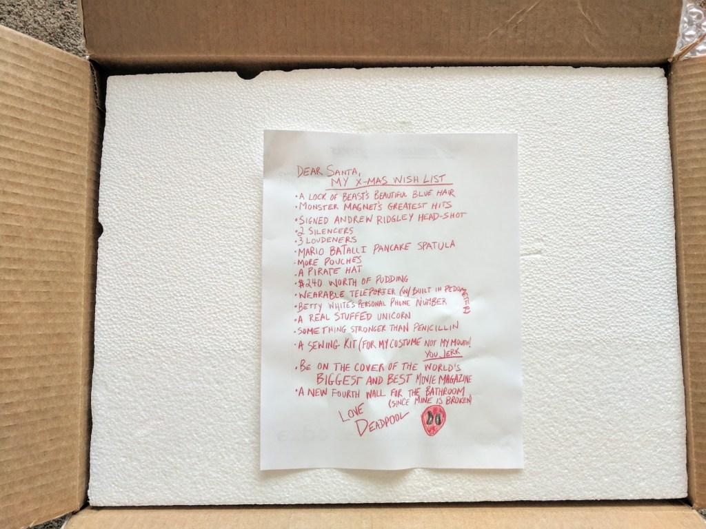 Deadpool Letter