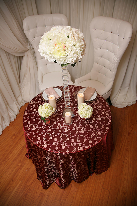 Burgundy  Gold Tablecloth  Right Choice Linen
