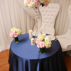 Green Garden Chair Covers Desk Target No Wheels Navy Blue Satin Tablecloth | Right Choice Linen