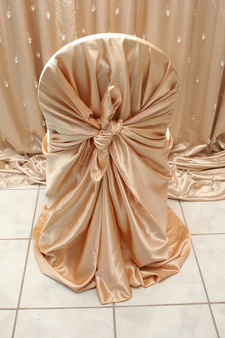 chair covers rose gold steel and table satin cover right choice linen