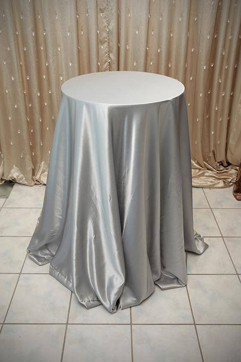 Silver Satin Tablecloth  Right Choice Linen
