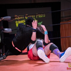 Steel Chair In Wrestling Black High Back Chairs Rightcoastpro Gauntlet Match Pushes Krazy Kids To The
