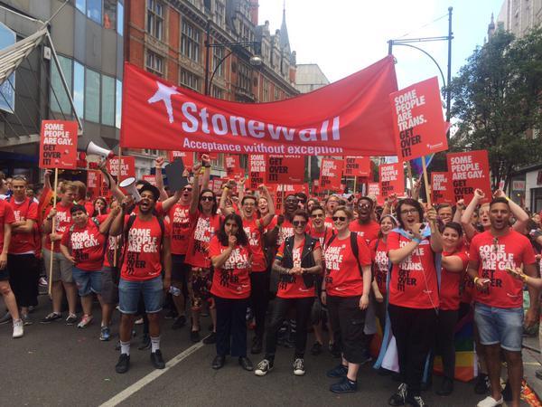 Stonewall at London Pride, 27 June 2015