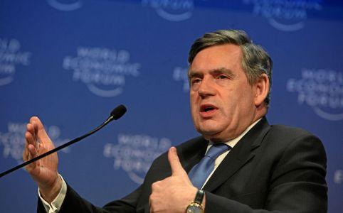 Gordon Brown, World Economic Forum January 2009, by Monika Flueckiger