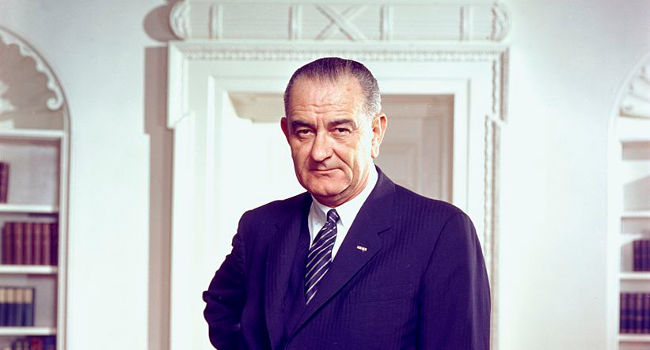 Lyndon Johnson in March 1964, by Arnold Newman, White House Press Office