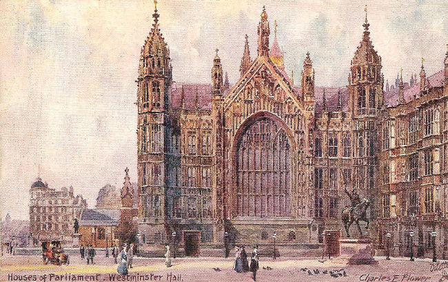 Westminster Old Palace Yard, 1911 by Charles Flower