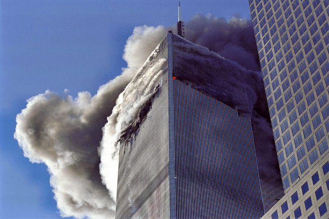 World Trade Center crash, September 2001 by Kevinalbania