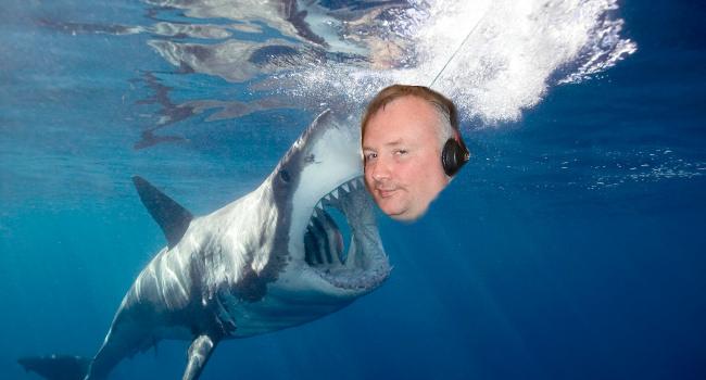 Shark attacks Stephen Nolan by James Cridland and Lwp Kommunikacio