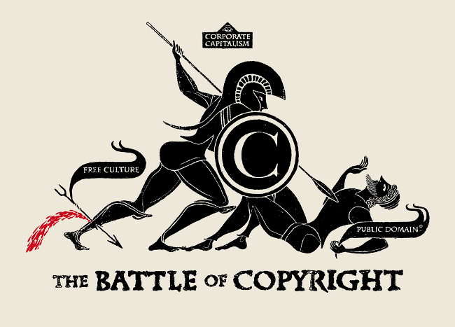 The Battle of Copyright, June 2011 by Christopher Dombres