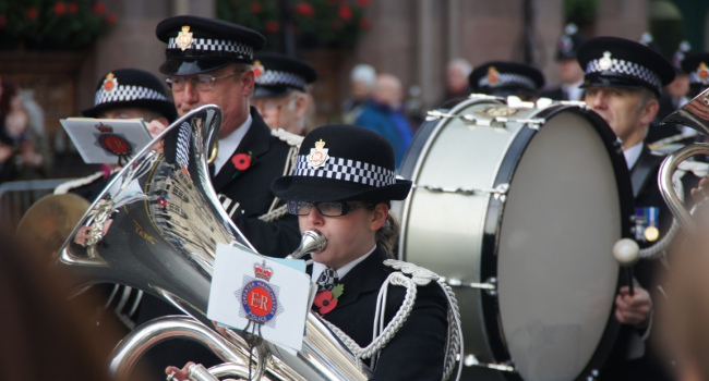 Police Band, Manchester Remembrance, November 2010 by Stuart Grout
