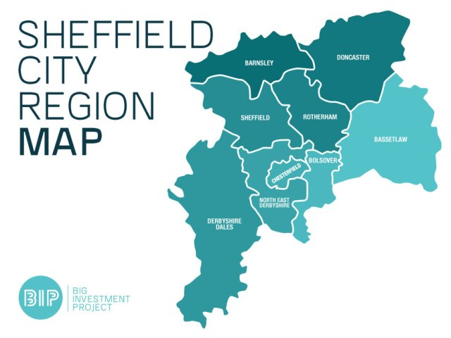 Sheffield City Region Map by Big Investment Project