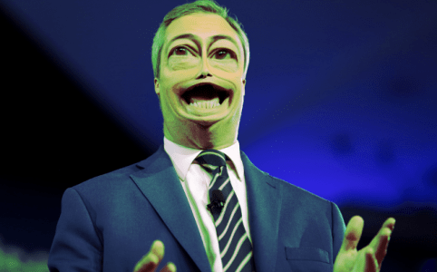 Nigel Farage caricature via Gage Skidmore small