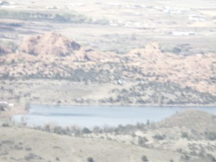 View of Watson Lake, from Badger Peak summit