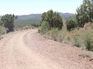 Javelina Trail, looking towards the Bradshaw Mountains, Prescott