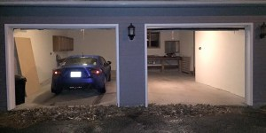 Parked in the garage