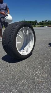 Broken cast Varrstoen wheel