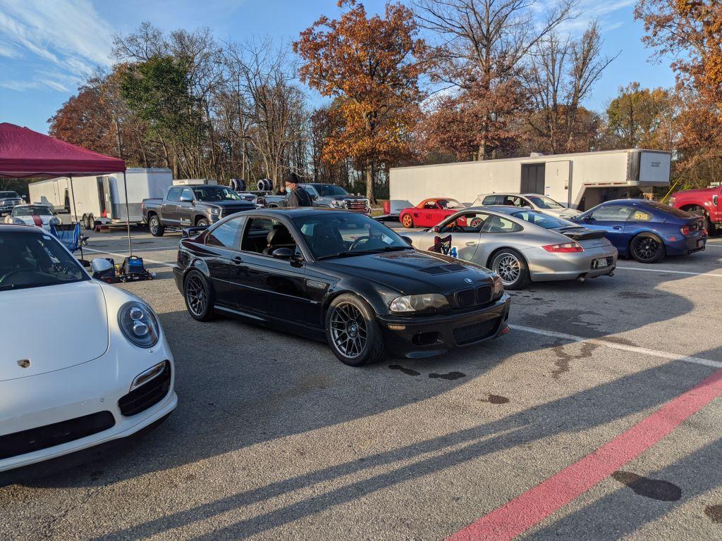 Josh's black E46 M3 and Kenny's 991 Turbo S