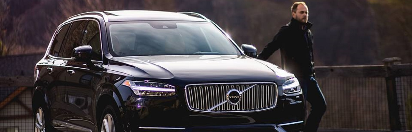 Will Clavey exiting a Volvo XC90 like a BAMF