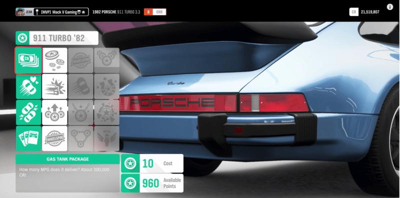 Forza Horizon 4 Porsche perk