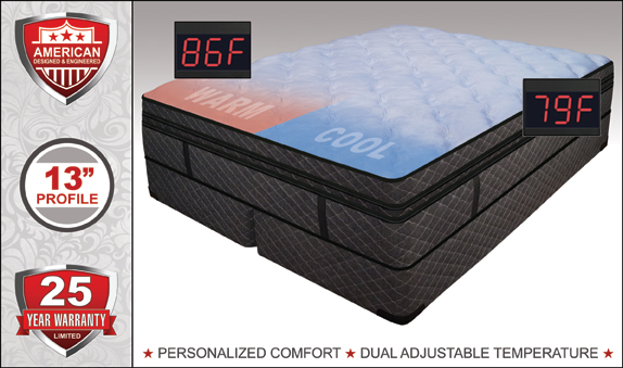 Eastern King Luxury Support Cashmere Softside Waterbed