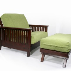 Folding Chair On Wall Oversized Slipcover Denali Twin & Ottoman Hugger™ Futon Frame - Right Futons Waterbeds