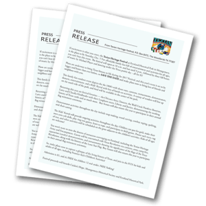 Professionally created press releases