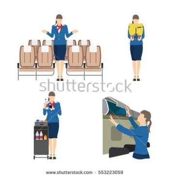 stock-vector-stewardess-serves-passengers-on-the-airplane-attendant-woman-in-uniform-vector-illustration-553223059