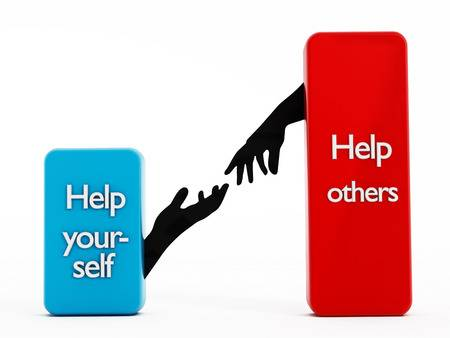 30907818-help-yourself-help-others-texts-on-rectangle-shapes-