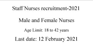 Male and Female Staff Nurse Jobs