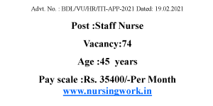 Staff Nurse jobs in Institute of Psychiatry and Human Behaviour Goa Government