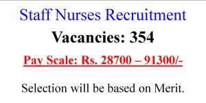 354 GNM BSc Staff Nurse Job Opportunites