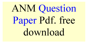 ANM Question Paper Pdf free download
