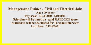 Electrical and Civil Engineering Degree Job Opportunities 2021
