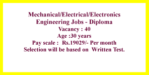 Electrical Mechanical and Electronics Engineering Jobs in Uttar Pradesh