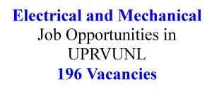 Electrical and Mechanical Job Opportunities in UPRVUNL